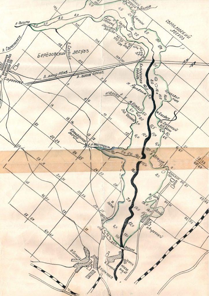 Карта глубин Белоярки